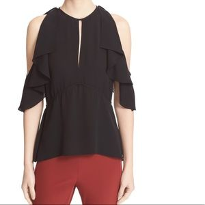 Theory black blouse